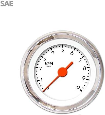 DECO XT White Tachometer Gauge GAR214ZEXIABAH Aurora Instruments