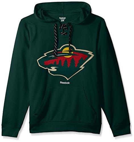 NHL Minnesota Wild Adult Men Team Crest Performance Fleece Hockey Hood,Small,Green