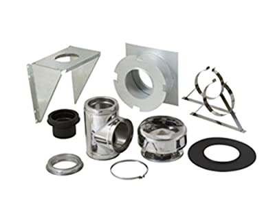 """Supervent 6"""" Through the Wall Stainless Steel Chimney Support Kit 208969 Thru-the-wall 6 inch"""