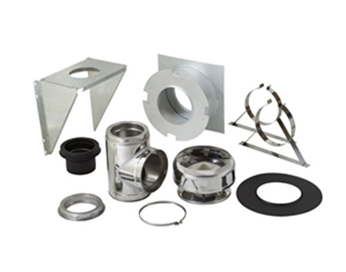 "Supervent 6"" Through the Wall Stainless Steel Chimney Support Kit 208969 Thru-the-wall 6 inch"