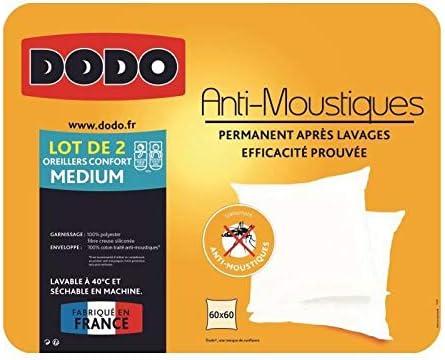 Dodo Lot de 2 oreillers Anti-MOUSTIQUES 60x60cm