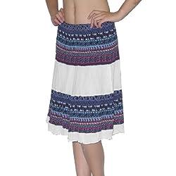 D.Shop By Sakda Womens Thai Exotic Full Crinkle Skirt Multicolor