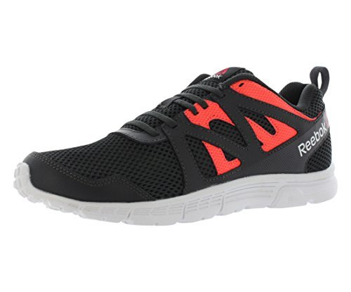 Reebok Men's Run Supreme 2.0 MT Running Shoe, Coal/Atomic Red/Ash Grey/White, 9 M US (Spring Reebok Mens)