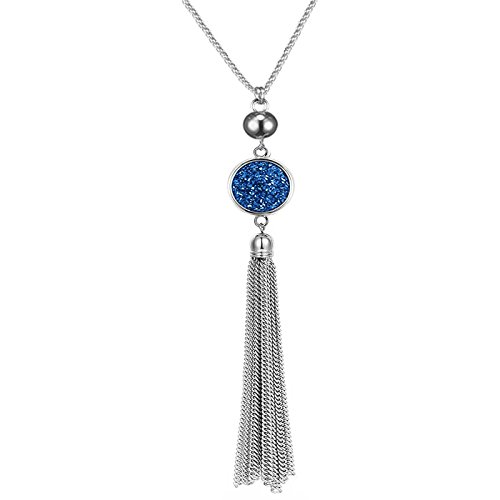 - Sweater Chain Long Tassel Necklace Pendant Chain for Women