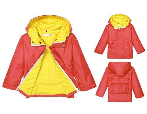 037633d87 Jingjinig1 Children's Lightweight Long Sleeve Rain Jacket with Hooded  Outwear (90, Watermelon Red)