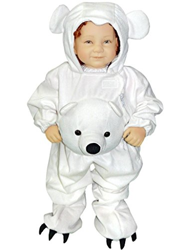 [Fantasy World Boys/Girls Polar Bear Halloween Costume, Size 5, J45] (Cute Baby Boy Costumes Ideas)
