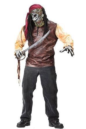 Amazon.com: Disfraz Pirata Esqueleto Talla de Adulto ...