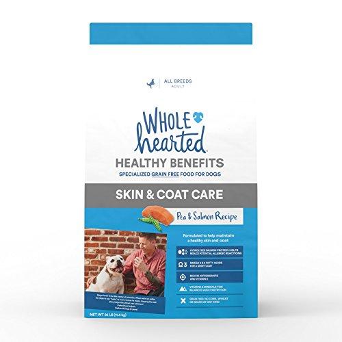 WholeHearted Grain Free Skin and Coat Care Pea and Salmon Recipe Dry Dog Food, 25 ()