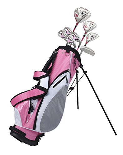 Premium Ladies Golf Club Set Pink, Right Handed and Left Handed, Sizes/Height - Standard, Petite, Tall (Petite, Right Handed)