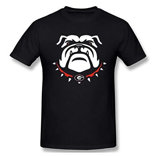 (Lanmei Men's Georgia Bulldogs Cotton Short Sleeves T-Shirts S Black)