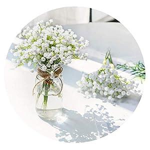 HuaHua-Store White Babies Breath Flowers Artificial Fake Gypsophila DIY Floral Bouquets Arrangement Wedding Home Decor 21