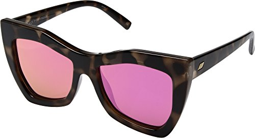 Le Specs Women's Kick It Sunglasses, Milky Tort/Magenta Revo, One - Le Specs Sunglasses Mirrored