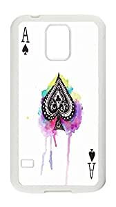 Samsung Galaxy S5I9600personalizada Caso, Samsung Galaxy S5I9600, Poker Watercolor funda, picas A Carcasa para Samsung Galaxy S5I9600.