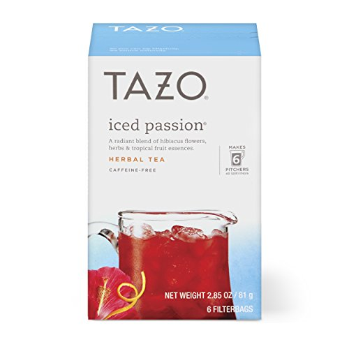 Flower Iced Tea - Tazo Iced Passion Herbal Tea Filterbags, 6 count (pack of 4)