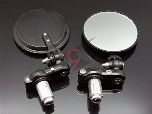 Xsports black 7 8 1 handlebar clamp on bar end mirrors for Mirror 750 x 1200