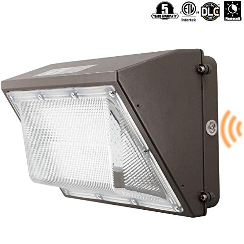 OOOLED 60W 6600lm LED Wall Pack Light,120-277V 5000K Daylight DLC cETLus-Listed 2500-450W MH/HPS Replacement, Outdoor/Entrance(5-Year Warranty) LPK 60W 1PK(5000K)
