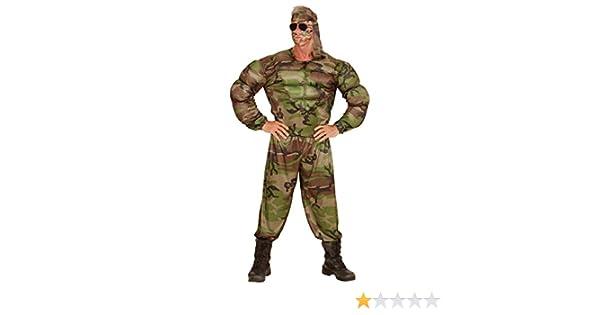 Traje Hombre Militar Disfraz Soldado musculoso L 52 Vestimenta con ...