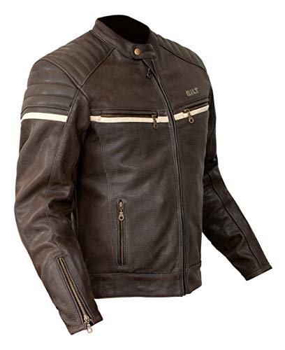 Bilt Alder Leather Jacket - 42 - Brown