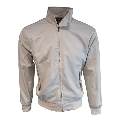 Warrior Mens Harrington Jacket W/Tartan Lining Stone S