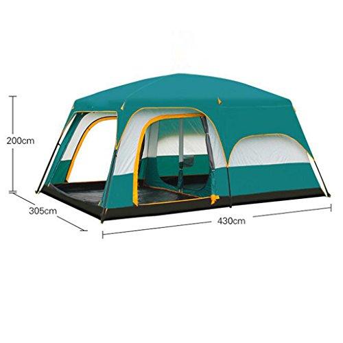 Deng Chambre camping en plein air tente pluie 4-8-10-12 personnes Ershiyiting grande tente multijoueur