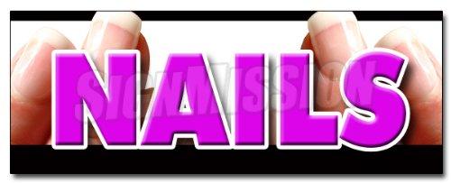 24'' NAILS DECAL sticker nail salon manicure spa
