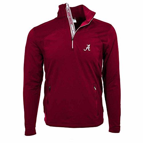 NCAA Alabama Crimson Tide Men's Tacoma Team Text Quarter Zip Jacket, X-Large, Cardinal