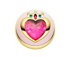 Chibiusa's first transformation brooch comes to life as a PROPLICA, complete with light-up and sound features. The voices were recorded by her actual voice actress, Kae Araki, letting you act out scenes just like in the show. Press a button i...