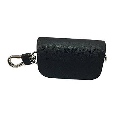New 1pcs Mesh Black Leather Car Key Wallet Zipper Case Keychain Coin Holder Metal Hook Bag Collection For Lexus Car Vehicle Auto Lover: Automotive