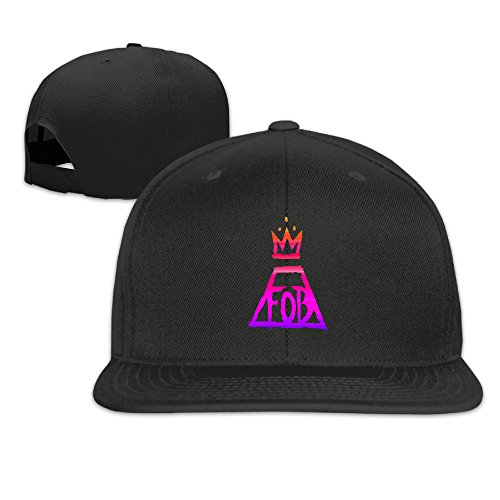 fob-fall-out-boy-logo-unisex-adjustable-flat-bill-hat-baseball-cap-black