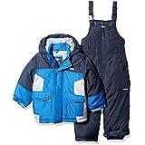 OshKosh B'Gosh Boys' Little Ski Jacket and Snowbib Snowsuit Set, deep Navy/Wolf Grey, 5/6