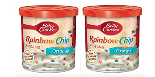 - Betty Crocker Original Rainbow Chip Frosting, 16 oz. (Pack of 2)