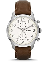 Men's FS4872 Townsman Stainless Steel Watch With Brown Leather Band