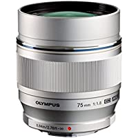 Olympus M.ZUIKO DIGITAL ED 75mm f1.8 (Silver) Lens for Olympus and Panasonic Micro 4/3 Cameras  - International Version (No Warranty)