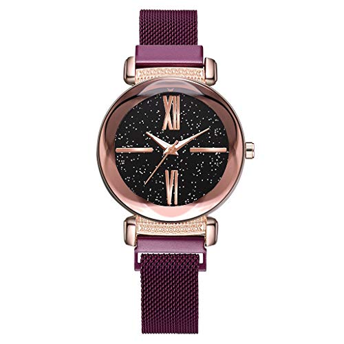 WaiiMak Hot Woman Star Dial Quartz Mesh with Magnetic Buckle Watch ()