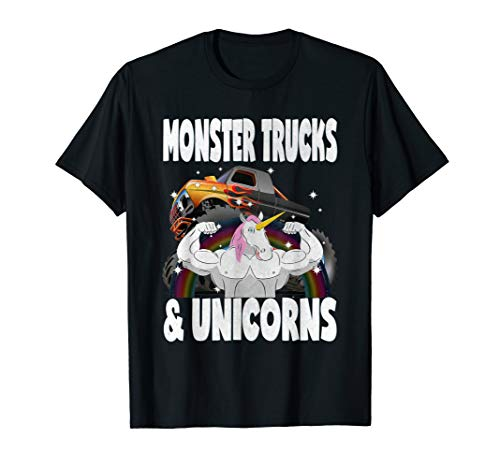 Monster Trucks & Unicorns Vintage Unicorn Sparkle T-Shirt