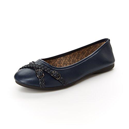 Harborsides Gwen Women Comfort Flats, Memory Foam Insole, Flex A Lite Outsole - Comfort Wide Shoes