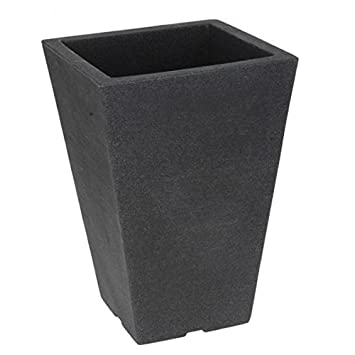 Pot Pot Pot De Fleurs Gris Anthracite 24 X 24 Cm Carre En Plastique