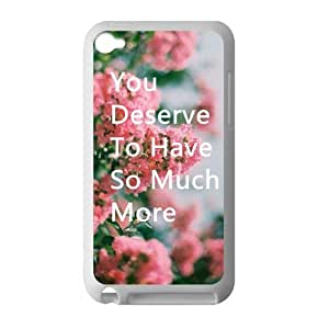 Welcome!Ipod Touch 4 Cases-Brand New Design Saying And Flower Printed High Quality TPU For Ipod Touch 4 3.5 Inch -02
