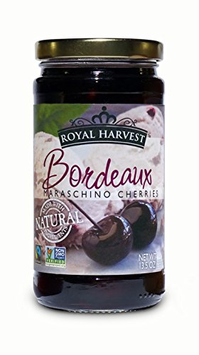 - Royal Harvest Bordeaux Maraschino Cherries, 13.5 Ounce
