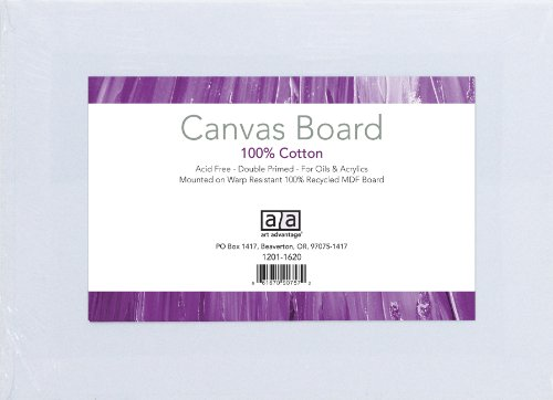 Art Advantage 18-Inch by 24-Inch Canvas Board by Art Advantage