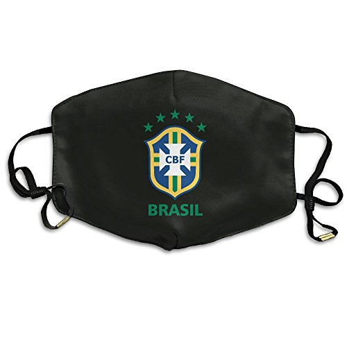 Price comparison product image 2018 Soccer Brazil National Football Team New Style Polyester Adjustable Dust Pollen Allergens Flu Germs Home Mouth Mask (One Size 18cm X 11cm) For Mens And Womens