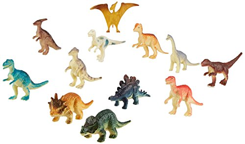 US Toy Assorted Mini Dinosaur Plastic Figures (Lot of 12)
