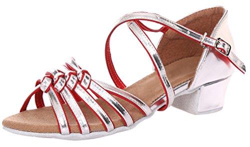 Abby 616 Mujeres Elegantes Boda De Moda Ocio Transpirable Peep Toe Zapatos De Baile Latino De Tacón Bajo Red M Us 7.5