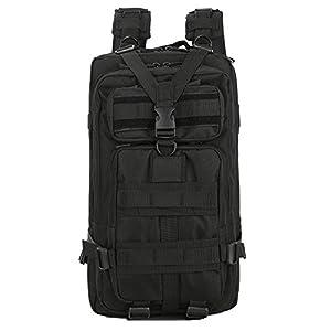Lovinland 30 L Outdoor Sport Backpack Tactical Rucksacks Military Trekking Bag for Hiking Camping Hunting Black from Lovinland