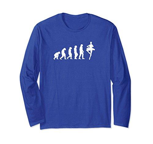 Unisex Evolution Ballet Ballerina Novelty Gifts Idea T-shirt Large Royal Blue