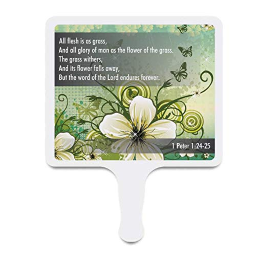 Church Fans - Set/12 Hand Held Fans 1 Peter 1:24-25 ()