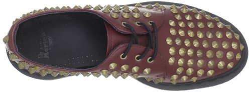 Dr. Martens Mujeres Harlen Zapato Cherry Red Smooth Studded
