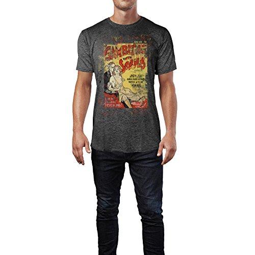 SINUS ART® Gambling with Souls Herren T-Shirts stilvolles dunkelgraues Cooles Fun Shirt mit tollen Aufdruck