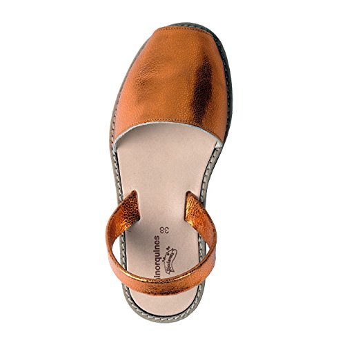 Minorquines - Sandalias de Vestir de Otra Piel Mujer naranja