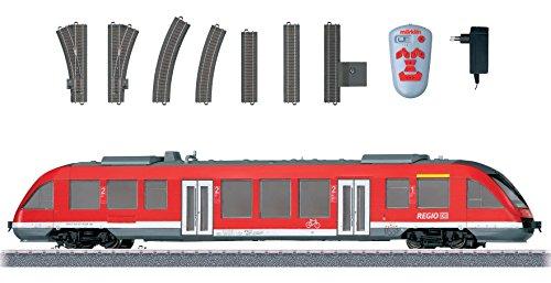 Modern Commuter Service Starter Set - 3-Rail w/Sound & Digital 120V -- German Railroad DB AG LINT 27 Diesel Light Rail Car